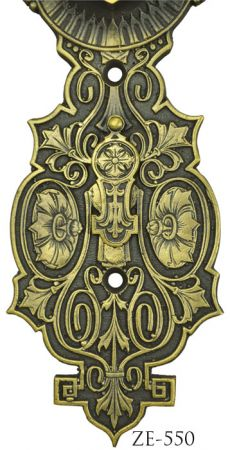R&E-Recreated-Flower-Motif-Door-Plate-Circa-1870-(ZE-550C)
