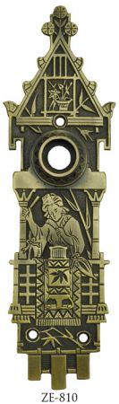 Lovely R&E Scenic Oriental Door Plate (ZE-810)