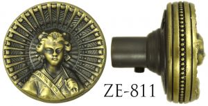 Vintage Door knob Recreated R&E Japanese Lady Geisha Motif Door Knob Circa 1879 (ZE-811)