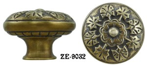 Victorian Floral Design Shutter Knob By R&E (ZE-9032)
