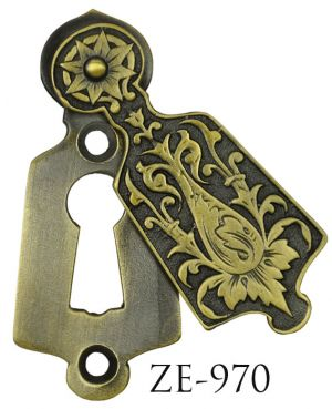 R&E Antique Recreated Victorian Covered Keyhole Circa 1887 (ZE-970)