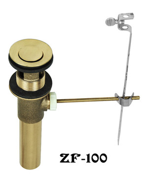Faucet Hole Cover Brass Pop-Up Drain Set (ZF-100)