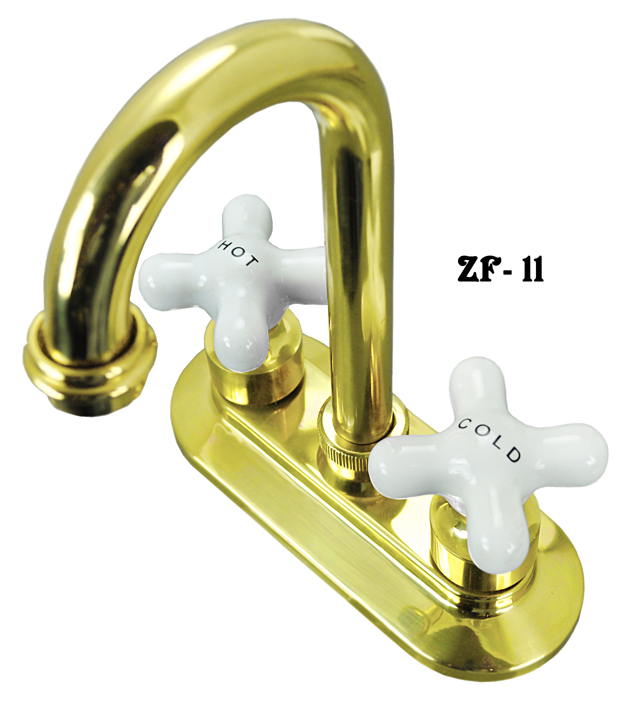 Vintage Hardware U0026 Lighting   Brass Wet Bar Sink Faucet With Porcelain Hot  And Cold Knobs (ZF 11)