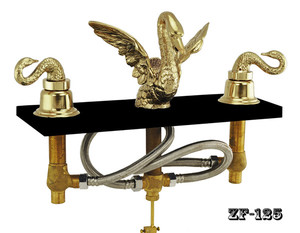 Bathroom Widespread Swan Faucet Set - Choice Of Finish (ZF-125)