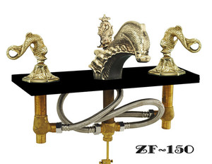 Oriental Dolphin Or Sea Dragon Faucet Set - Choice Of Finish (ZF-150)
