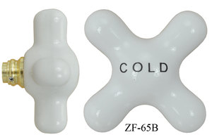 Large Porcelain Cross Handle Porcelain Handle Cold (ZF-65B)