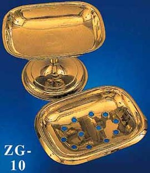 Vintage Style Solid Brass Soap Dish -  (ZG-10)