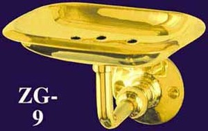 Bathroom Wall Mounted Brass Soap Dish (ZG-9)