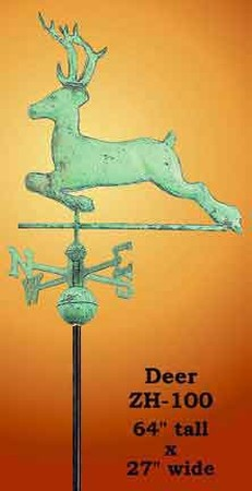 Running Deer Copper Weather Vane (ZH-100)