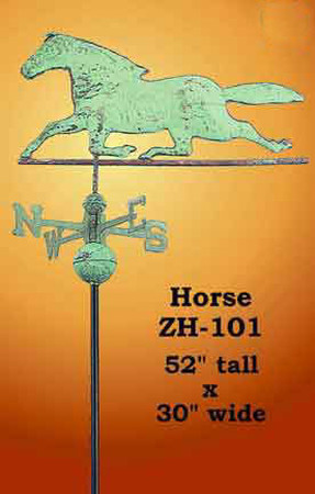 Running Horse Copper Weather Vane (ZH-101)