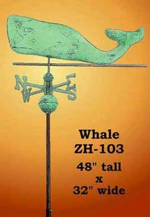 Whale Copper Weather Vane (ZH-103)