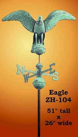 Flying Eagle Copper Weather Vane (ZH-104)