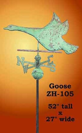 Flying Goose Copper Weather Vane (ZH-105)