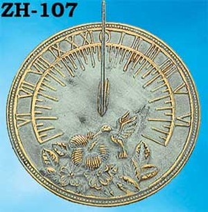 Garden Decor Recreated Brass Sundial Hummingbird (ZH-107)