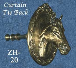 Horse Head Curtain Tie Back Zh 20