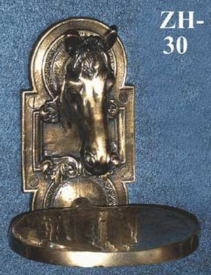 Bathroom Horse Head Brass Soap Dish (ZH-30)