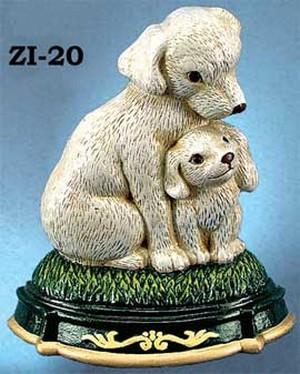 Cast Iron Door Stop Dog & Puppy (ZI-20)
