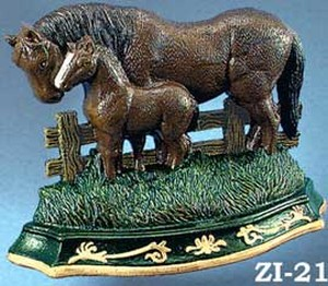 Cast Iron Door Stop Mare & Colt (ZI-21)