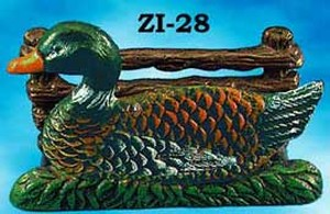 Cast Iron Recreated Duck Letter Or Napkin Holder (ZI-28)