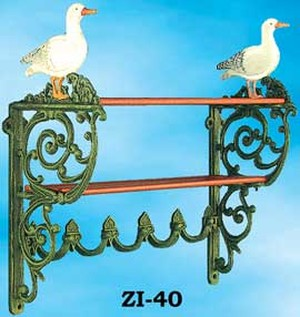 Rustic Seagull Motif Iron Kitchen Shelf (ZI-40)