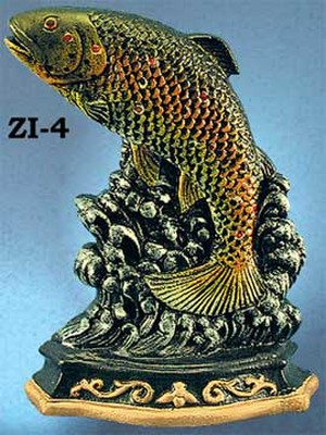 Cast Iron Door Stop Trout (ZI-4)