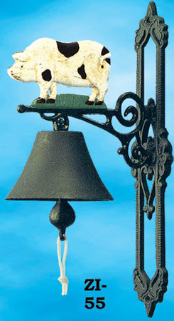 Cast Iron Bell Piggy (ZI-55)