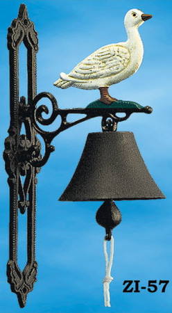 Bird Motif Cast Iron Bell (ZI-57)