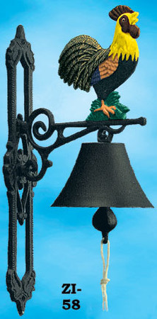 Country-Style-Rooster-Cast-Iron-Rooster-Bell-(ZI-58)