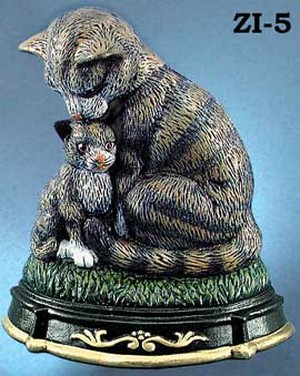 Cast Iron Door Stop Cat & Kitten (ZI-5)