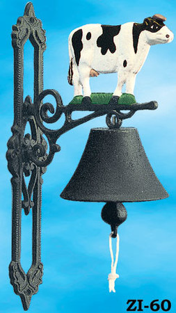 Western Style Cast Iron Bell Cow (ZI-60)