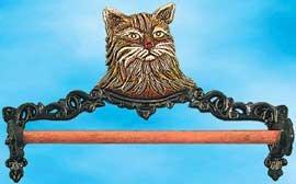 Cast Iron Towel Holder Cat Motif Zi 62