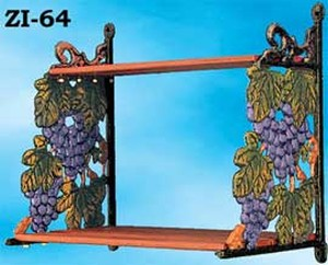 Cast Iron Double Shelf With Grapes Design (ZI-64)