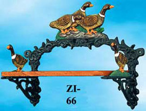 Cast Iron Duck Small Shelf (ZI-66)