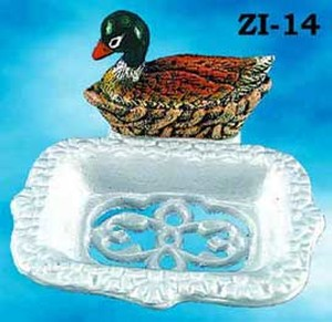 Country-Style-Cast-Iron-Duck-Paper-Towel-Holder-(ZI-67)