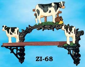 Cast Iron Cow Design Country Style Small Shelf (ZI-68)