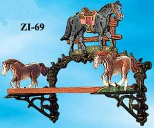 Cast Iron Horse Small Shelf (ZI-69)