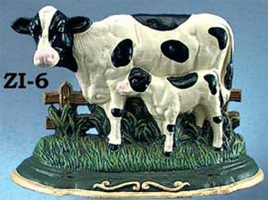 Cast Iron Door Stop Cow Scene (ZI-6)