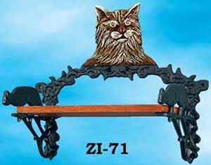 Cast Iron Cat Small Shelf (ZI-71)