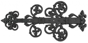 Decorative Black Iron Strap Hinge (ZIR-300)