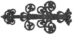 decorative black iron strap hinge zir 300 - Decorative Hinges