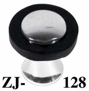 "Art Deco Bakelite Black 1"" Diameter Knob (ZJ-128)"
