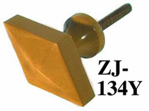 Art Deco Bakelite Caramel Color Diamond Shape Furniture Knob (ZJ-134Y)