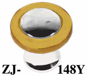 "Art Deco Bakelite Caramel 1"" Knob Nickel Plated (ZJ-148Y)"