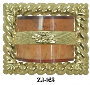 "Art Deco Waterfall Rope Buckle Handle 2 1/2"" Boring (ZJ-163)"
