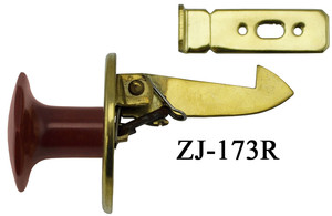 "Art Deco Bakelite Red Octagonal Cupboard Latch 1"" (ZJ-173R)"