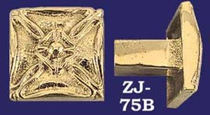 Art Deco Brass Square Knob (ZJ-75B)
