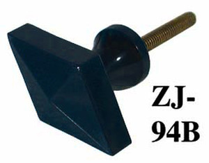 Art Deco Bakelite Navy Blue Diamond Shape Knob (ZJ-94B)