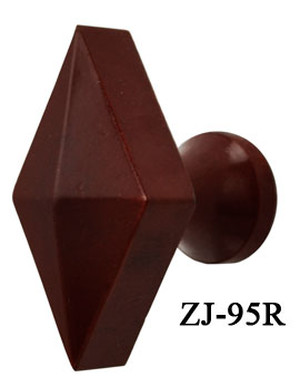 Art Deco Bakelite Red Diamond Shape Knob (ZJ-95R)