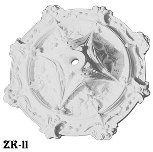 "Real Plaster Ceiling Medallion Ivy Swag Design 25"" Diameter (ZK-11)"