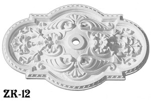 "Authentic Plaster Ceiling Medallion Recreated Shell Or Scallop Rectangle 18 X 29"" Diameter (ZK-12)"